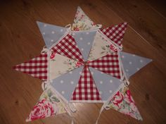 Handmade Bunting in Cath Kidston Hampsted Rose by BreifneCottage