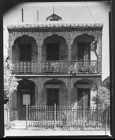 House with Cast-Iron Grillwork on Balconies, New Orleans, Louisiana, Walker Evans, 1935