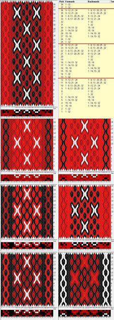 32 tarjetas, 4 colores intercambiados, repite cada 12 movimientos// sed_809 diseñado en GTT༺❁