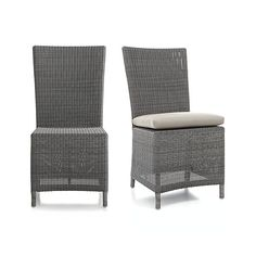 Captiva Grey Side Chair and Cushion    Crate and Barrel