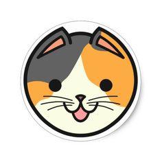Shop Basket Cats Calico Cat Sticker created by BasketCats. Kittens Cutest, Cute Cats, Ragdoll Kittens, Funny Kittens, Bengal Cats, Kitty Cats, Cat Stickers, Custom Stickers, Make Tattoo