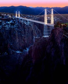 Royal Gorge Bridge and Park. Not the easiest bridge to cross :-)