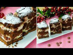 Brownie cu brânză și vișine-cel mai delicat desert ciocolătos, se prepară ușor și e foarte delicios! - YouTube No Cook Desserts, Mai, Tiramisu, Deserts, Cooking, Ethnic Recipes, Youtube, Food, Pie