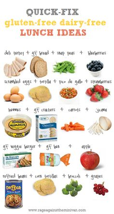 quick gfdf gluten-free dairy-free school lunch ideas (for my gluten- and dairy-sensitive sister)