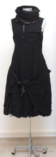 rundholz - Kleid Double mit Cacheur Wool Cotton black - Winter 2015 - stilecht - mode für frauen mit format...