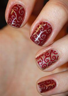 Christmas Nail Art Designs  I want to do this for Christmas