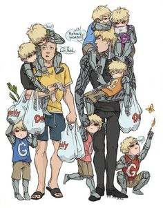 Even though... This is the most adorable thing ever!!!!! I just want to appreciate the little scene if you care to pay attention to all the details about each kid/bot and notice the one standing on the ground to Genos' s left... for he is an evil little thing am I right?