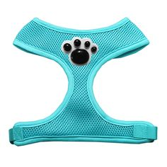 Dogs will put their best paw forward with the Black Paws Chipper Dog Harness! Black paw on chest Soft polyester mesh Padded chest Why We Love It: Brighten your