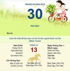 Xem ngày tốt xấu thứ 7 ngày 30 tháng 5 năm 2015 tu vi: http://boi.vn/tu-vi-2015/ xem boi: http://boi.vn/ xem tuoi vo chong: http://boi.vn/xem-tuoi-vo-chong phong thuy: http://boi.vn/phong-thuy/