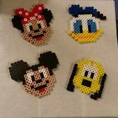 Mickey mouse, minnie mouse and disney perler bead sprites . Melty Bead Designs, Perler Bead Designs, Melty Bead Patterns, Perler Patterns, Beading Patterns, Perler Bead Disney, Perler Bead Art, Kritzelei Tattoo, Hamma Beads Ideas