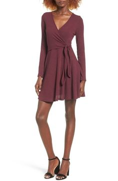 Everly Rib Knit Wrap Dress available at #Nordstrom