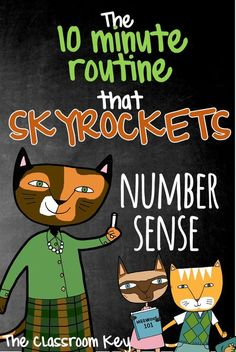 The 10 Minute Routine that SKYROCKETS Number Sense, a great activity for 1st, 2nd, and 3rd grade math teachers