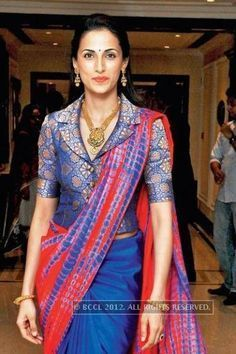 Image result for latest saree jackets shirt type