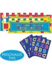 Giant Personalized Banner Kit 65in x 20in -Giant Signs -Birthday Decorations -Boys Birthday -Birthday Party Supplies - Party City
