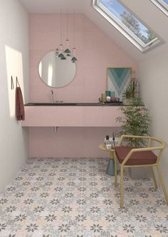 Apulia R Multicolour by Vives Patterned floor and wall tiles in porcelain suitable for interior and exterior offered in 3 colours and 2 formats. www.vivesceramica.com