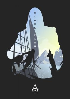 Assassins Creed Anime, Assassins Creed Black Flag, Assassins Creed 4, Assassins Creed Odyssey, Assassin's Creed Black, Assassin's Creed Wallpaper, Artistic Wallpaper, Gaming Posters, Game Art