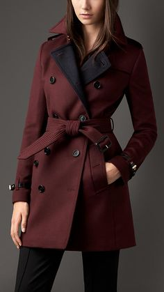 Burberry London Virgin Wool Cashmere Trench Coat