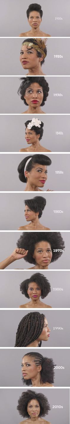 Here's how hair has evolved over the past 100 years.