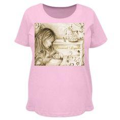 #VintageCarouselDreams #PinkMaternityTshirt by #MoonDreamsMusic