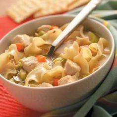 Top 10 Recipes for Soup from Taste of Home, including Roasted Chicken Noodle Soup Recipe