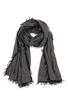 cashmere striped scarf