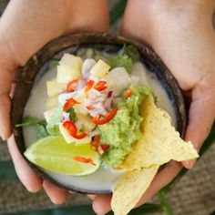 Marinated Raw Fish with Pineapple, Coconut and Guacamole by Nadia Lim   NadiaLim.com