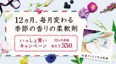 毎月変わる 季節の香りの柔軟剤 いっしょ買いキャンペーン