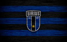 Download wallpapers Sirius FC, 4k, Allsvenskan, soccer, football club, Sweden, Sirius, emblem, wooden texture, FC Sirius
