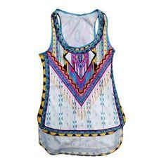Tongshi Verano de las mujeres del chaleco sin mangas de la camisa de la blusa de las camisetas sin mangas ocasional #camiseta #starwars #marvel #gift