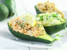 Stuffed Avocados Three Ways