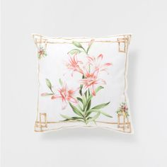 Flower and bamboo cushion