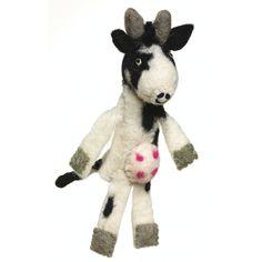 Wool Felt Finger Puppet - Cow