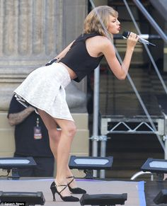 Listen to this: The hit-maker is currently promoting her new 13 track album, 1989