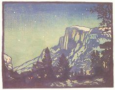 Night Yosemite. William Seltzer Rice (June 23, 1873 - August 27, 1963)  California Arts and Crafts Movement  http://upload.wikimedia.org/wikipedia/commons/thumb/8/85/Night_Yosemite_1920.jpg/767px-Night_Yosemite_1920.jpg