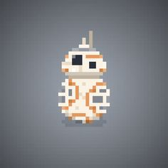 "BB-8 - Star Wars Episode 7: The Force Awakens  - Pixel Art Character by Manolo ""The Oluk"" Saviantoni"