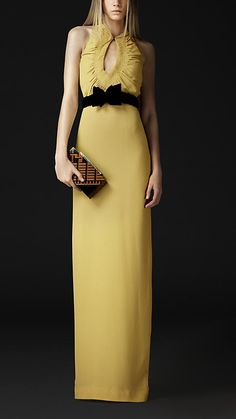 Silk Keyhole Dress | Burberry