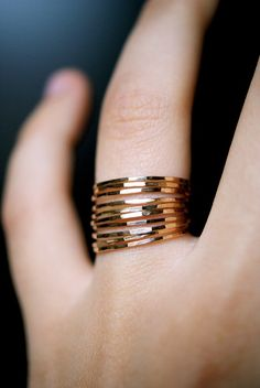 One of these beauties might go unnoticed, two of them might just look ok. Why not try staking multiple filagree rings onto the one finger like this to turn an unnoticed ring into a statement work of art. #style #fashion #jewelry