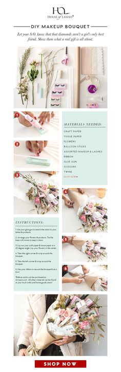 Not sure what to get that special someone? Check out this DIY for a makeup bouquet fit for a queen!