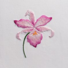 Orchid Gala<br>Hand Towel - White Cotton