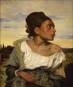 Orphan Girl at the Cemetery by Eugene Delacroix