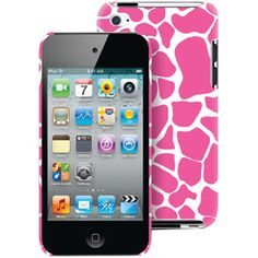 Macbeth Collection Case for ipod touch 4, Pink Giraffe Print. Giraffe=one of my fav animals. Pink=one of my fav colors... I LOVE THIS CASE!