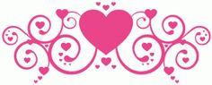 Silhouette Online Store - View Design #65350: fancy heart swirl / flourish