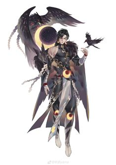 Crow- one of seihens allies. A visionary who seeks to keep the Han intact. His goals align with those of HAP and the Zhou clan. Character Concept, Character Art, Concept Art, Fantasy Characters, Anime Characters, Dibujos Cute, Character Design References, Character Design Inspiration, Character Illustration