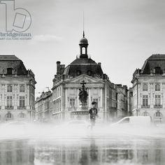 Place de la Bourse, France, 2012 (b/w photo) / Photo © Ronny Behnert / Bridgeman Images