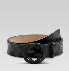 a19a6aa6cd2c2 Louis vuitton belts for men. See more. Belt with Interlocking G Buckle   Black Mens Gucci Belt