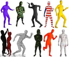 Lycra Spandex Zentai Full Body Hood Suit Costume Party Costumes Skin Tight