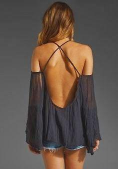 Cute Backless Tops