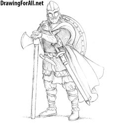 How to Draw a Realistic Viking. Learn to draw a viking with this drawing tutorial: http://www.drawingforall.net/how-to-draw-a-realistic-viking/