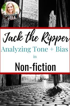 Jack the Ripper: Tone & Bias in the Media Coverage of this Infamous Murder Case Close Reading Lessons, Reluctant Readers, Middle School English, English Classroom, Fiction And Nonfiction, Workshop Ideas, Writing Workshop, English Lessons, Serial Killers