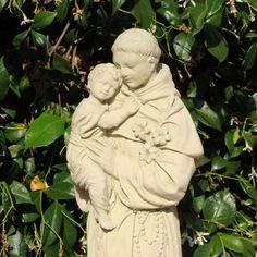 Saint Anthony@ the  Designer Stone Garden Shop Link on www.greenearthdealsonline.com